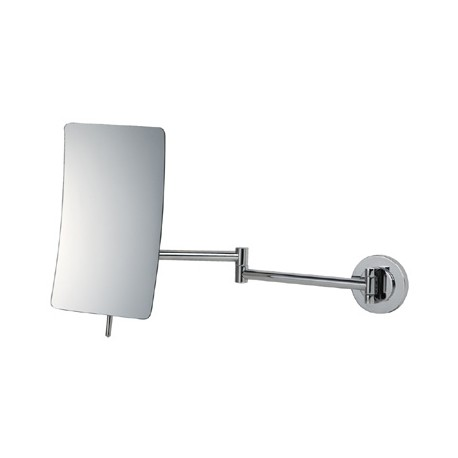 Square Extending 5x Magnifying Wall Mirror