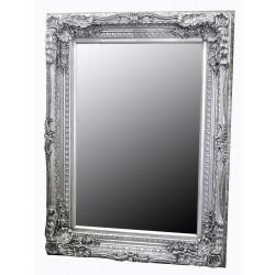 Ornate Silver Finish Decorative Mirror